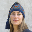 Anna in Elfin Peak Fair Isle Hat