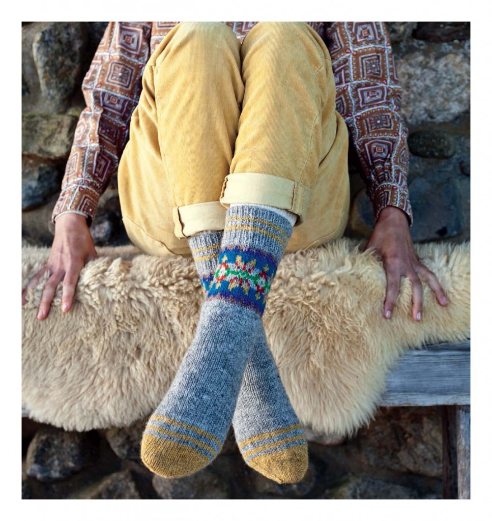Fair Isle Style - Morroless Socks beauty shot