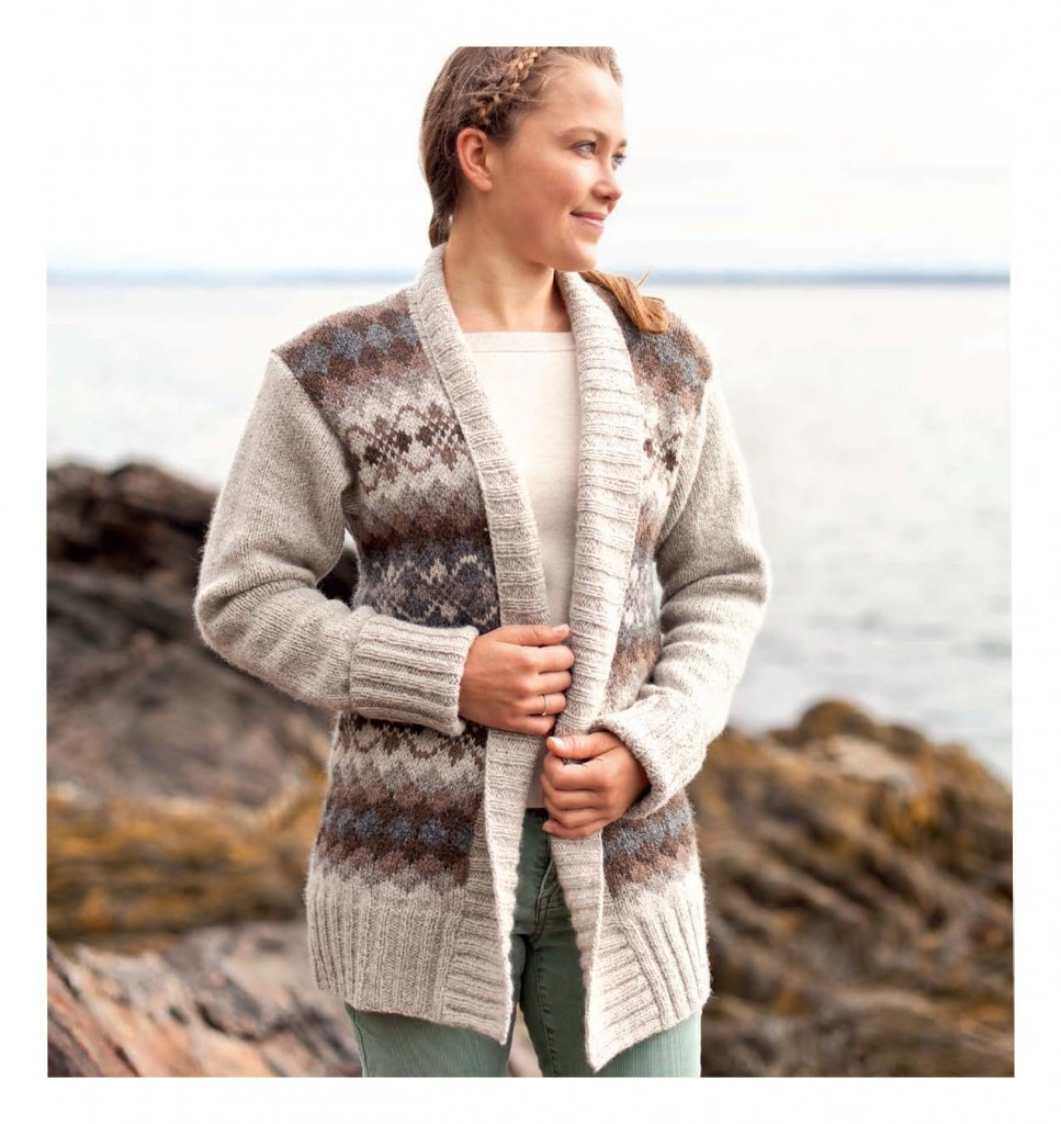 Fair Isle Style - Valenzi Cardigan beauty shot
